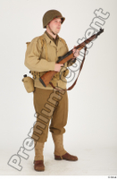 U.S.Army uniform World War II. ver.2 army poses with gun soldier standing whole body 0016.jpg