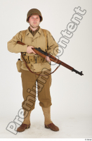 U.S.Army uniform World War II. ver.2 army poses with gun soldier standing whole body 0017.jpg