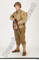 U.S.Army uniform World War II. ver.2 army poses with gun soldier standing whole body 0018.jpg