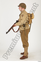 U.S.Army uniform World War II. ver.2 army poses with gun soldier standing whole body 0019.jpg