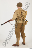 U.S.Army uniform World War II. ver.2 army poses with gun soldier standing whole body 0020.jpg