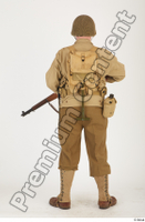 U.S.Army uniform World War II. ver.2 army poses with gun soldier standing whole body 0021.jpg