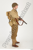 U.S.Army uniform World War II. ver.2 army poses with gun soldier standing whole body 0023.jpg