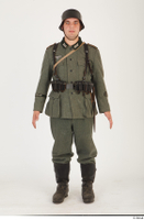 German army uniform World War II. ver.5 army poses with gun soldier whole body 0001.jpg