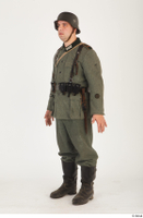 German army uniform World War II. ver.5 army poses with gun soldier whole body 0002.jpg