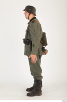 German army uniform World War II. ver.5 army poses with gun soldier whole body 0003.jpg