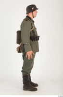 German army uniform World War II. ver.5 army poses with gun soldier whole body 0007.jpg
