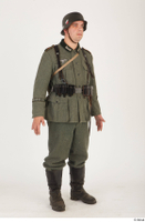 German army uniform World War II. ver.5 army poses with gun soldier whole body 0008.jpg