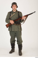German army uniform World War II. ver.5 army poses with gun soldier whole body 0009.jpg