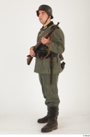 German army uniform World War II. ver.5 army poses with gun soldier whole body 0010.jpg
