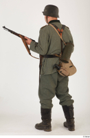 German army uniform World War II. ver.5 army poses with gun soldier whole body 0012.jpg