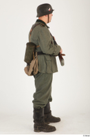 German army uniform World War II. ver.5 army poses with gun soldier whole body 0014.jpg