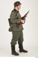 German army uniform World War II. ver.5 army poses with gun soldier whole body 0015.jpg