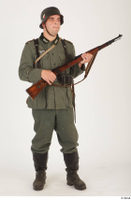 German army uniform World War II. ver.5 army poses with gun soldier whole body 0016.jpg