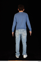 Hamza blue jeans blue sweatshirt dressed standing white sneakers whole body 0005.jpg