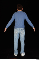 Hamza blue jeans blue sweatshirt dressed standing white sneakers whole body 0013.jpg