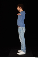 Hamza blue jeans blue sweatshirt dressed standing t poses white sneakers whole body 0003.jpg