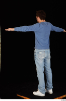 Hamza blue jeans blue sweatshirt dressed standing t poses white sneakers whole body 0004.jpg