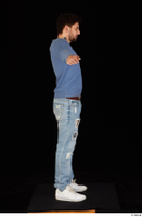 Hamza blue jeans blue sweatshirt dressed standing t poses white sneakers whole body 0007.jpg