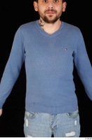 Hamza blue sweatshirt dressed upper body 0001.jpg