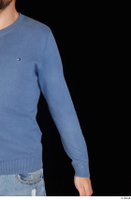 Hamza arm blue sweatshirt dressed upper body 0002.jpg