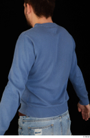 Hamza blue sweatshirt dressed upper body 0004.jpg