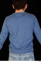 Hamza blue sweatshirt dressed upper body 0005.jpg