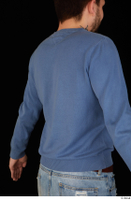 Hamza blue sweatshirt dressed upper body 0006.jpg