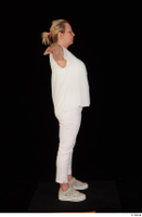 Donna dressed sneakers standing t poses white pants white top whole body 0007.jpg