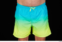 Spencer blue yellow shorts dressed hips 0001.jpg