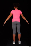 Zahara dressed grey sneakers grey sports leggings pink t shirt sports standing whole body 0013.jpg