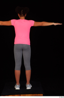 Zahara dressed grey sneakers grey sports leggings pink t shirt sports standing t poses whole body 0005.jpg