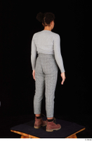 Zahara brown workers casual dressed grey sweatshirt grey trousers standing whole body 0006.jpg