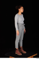 Zahara brown workers casual dressed grey sweatshirt grey trousers standing whole body 0008.jpg
