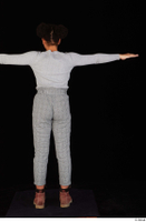 Zahara brown workers casual grey sweatshirt grey trousers standing t poses whole body 0005.jpg