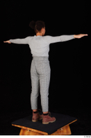 Zahara brown workers casual grey sweatshirt grey trousers standing t poses whole body 0006.jpg