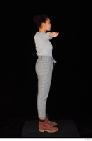 Zahara brown workers casual grey sweatshirt grey trousers standing t poses whole body 0007.jpg