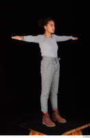 Zahara brown workers casual grey sweatshirt grey trousers standing t poses whole body 0008.jpg