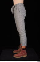 Zahara brown workers casual dressed grey trousers leg lower body 0003.jpg