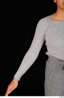 Zahara arm casual dressed grey sweatshirt upper body 0001.jpg