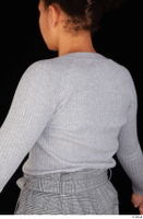 Zahara casual dressed grey sweatshirt upper body 0004.jpg