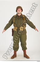 U.S.Army uniform World War II. - Technical Corporal army soldier standing uniform whole body 0001.jpg