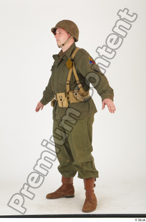 U.S.Army uniform World War II. - Technical Corporal army soldier standing uniform whole body 0002.jpg