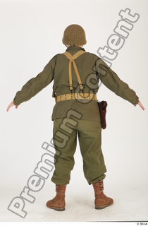 U.S.Army uniform World War II. - Technical Corporal army soldier standing uniform whole body 0005.jpg