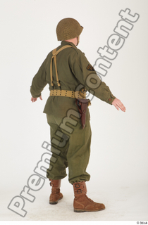 U.S.Army uniform World War II. - Technical Corporal army soldier standing uniform whole body 0006.jpg