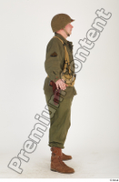 U.S.Army uniform World War II. - Technical Corporal army soldier standing uniform whole body 0007.jpg