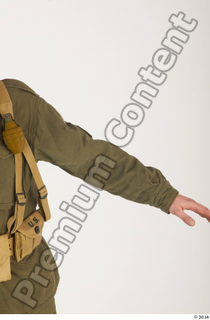 U.S.Army uniform World War II. - Technical Corporal arm army soldier uniform upper body 0002.jpg