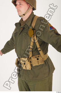 U.S.Army uniform World War II. - Technical Corporal army soldier uniform upper body 0002.jpg