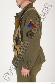 U.S.Army uniform World War II. - Technical Corporal arm army soldier uniform upper body 0003.jpg