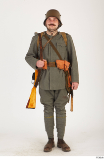Austria-Hungary army uniform World War I. ver.1 - poses army poses with gun soldier standing uniform whole body 0001.jpg